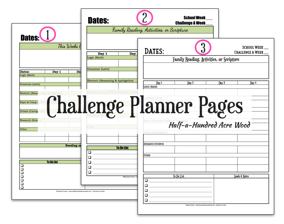 Cc Challenge Planner Page Free Printable