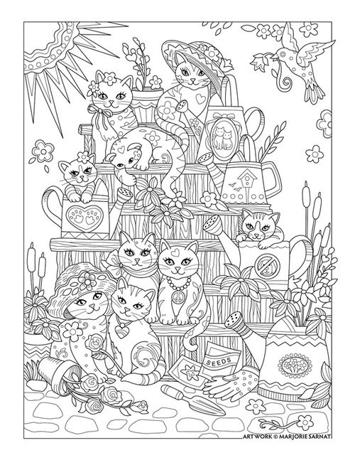 Pampered Pets Coloring Book I Marjorie Sarnat (see my cats and dogs ...