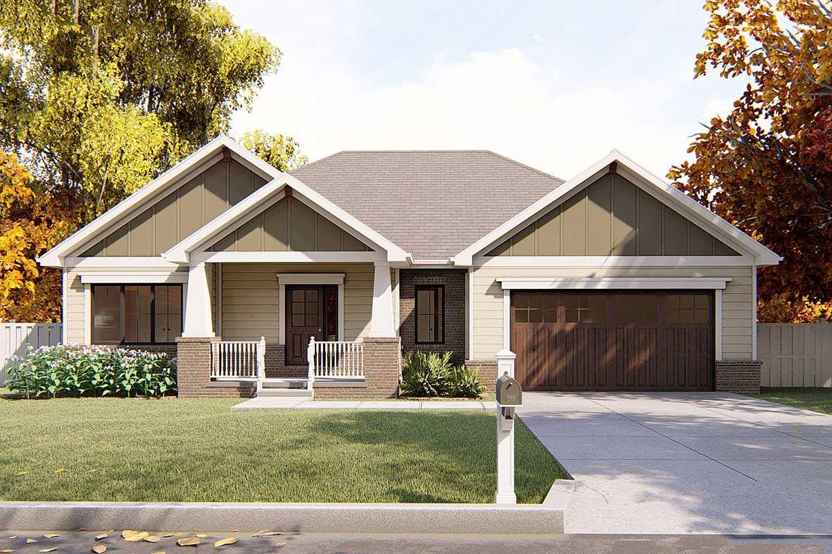 Plan 62565dj Craftsman Ranch House Plan Craftsman House Plans Craftsman Style House Plans Farmhouse Style House Plans