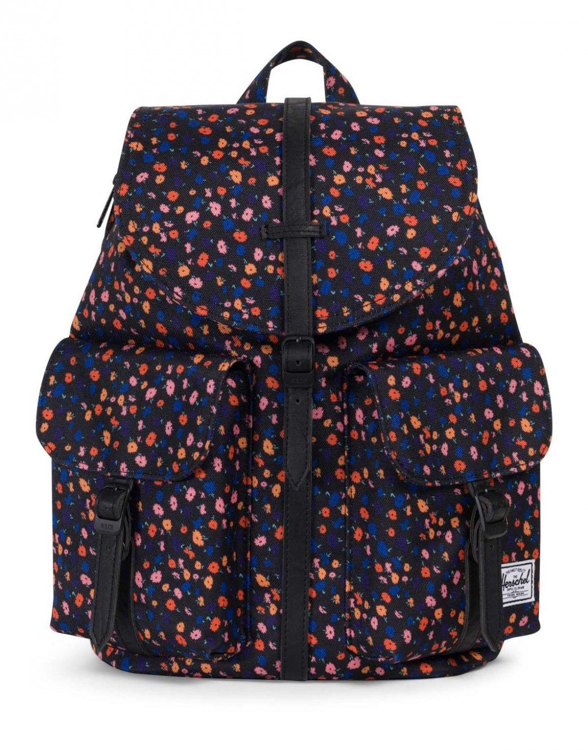 92537597d0f Herschel Dawson XS Backpack 600D Poly Black Mini Floral