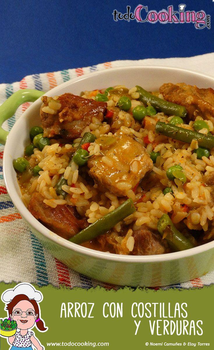 Arroz con costillas de cerdo y verduras #todocooking #receta #cerdo #arroz