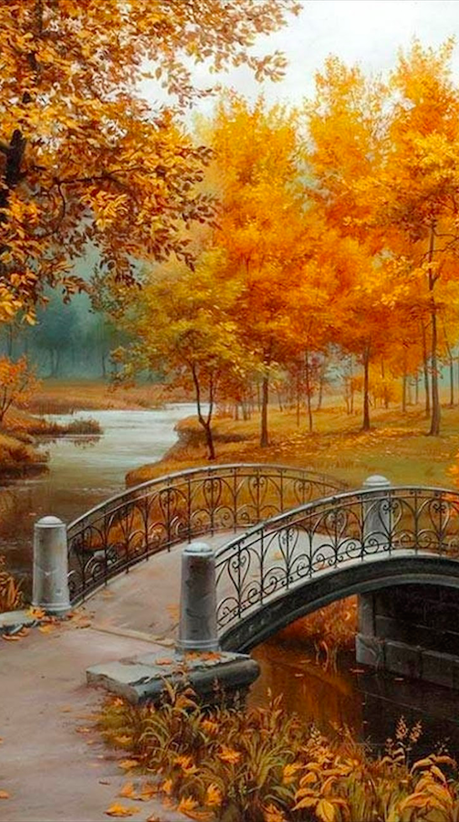 Autumn in the park • artist: Evgeny Lushpin, although every artist must draw an autumnal scene at least once in their lives!
