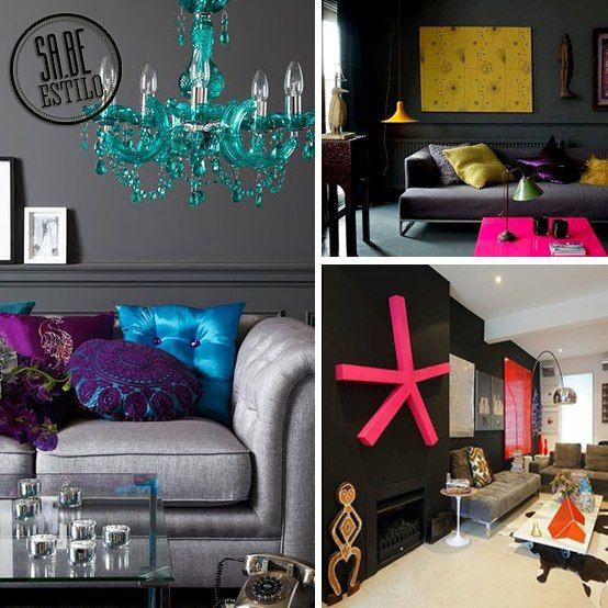 Paredes pretas permitem você abusar de cores em objetos e móveis. Você adotaria esse estilo?