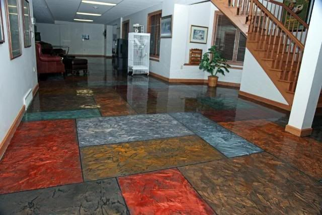 Residential Stained Concrete Floors: Home Design Flooring Residential Flooring Solution