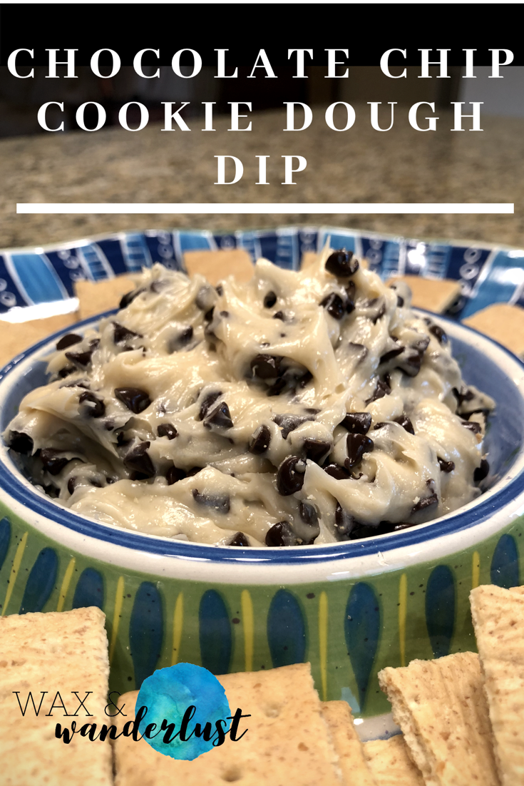 chocolate chip cookie dough dip  chocolate chip cookie
