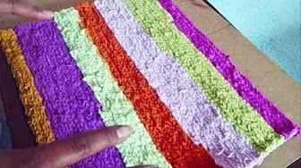 Cortar y reciclar tela para tejer a crochet tutorial paso a paso. - YouTube