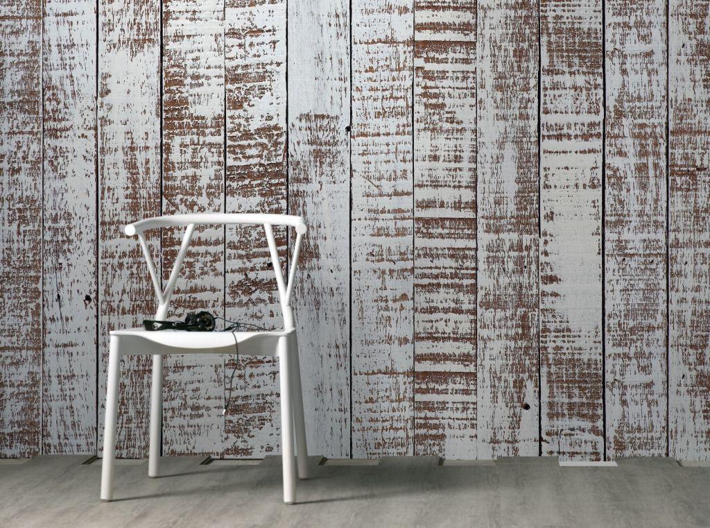 Carta da parati effetto legno grezzo planisfero modern for Murales per cucina