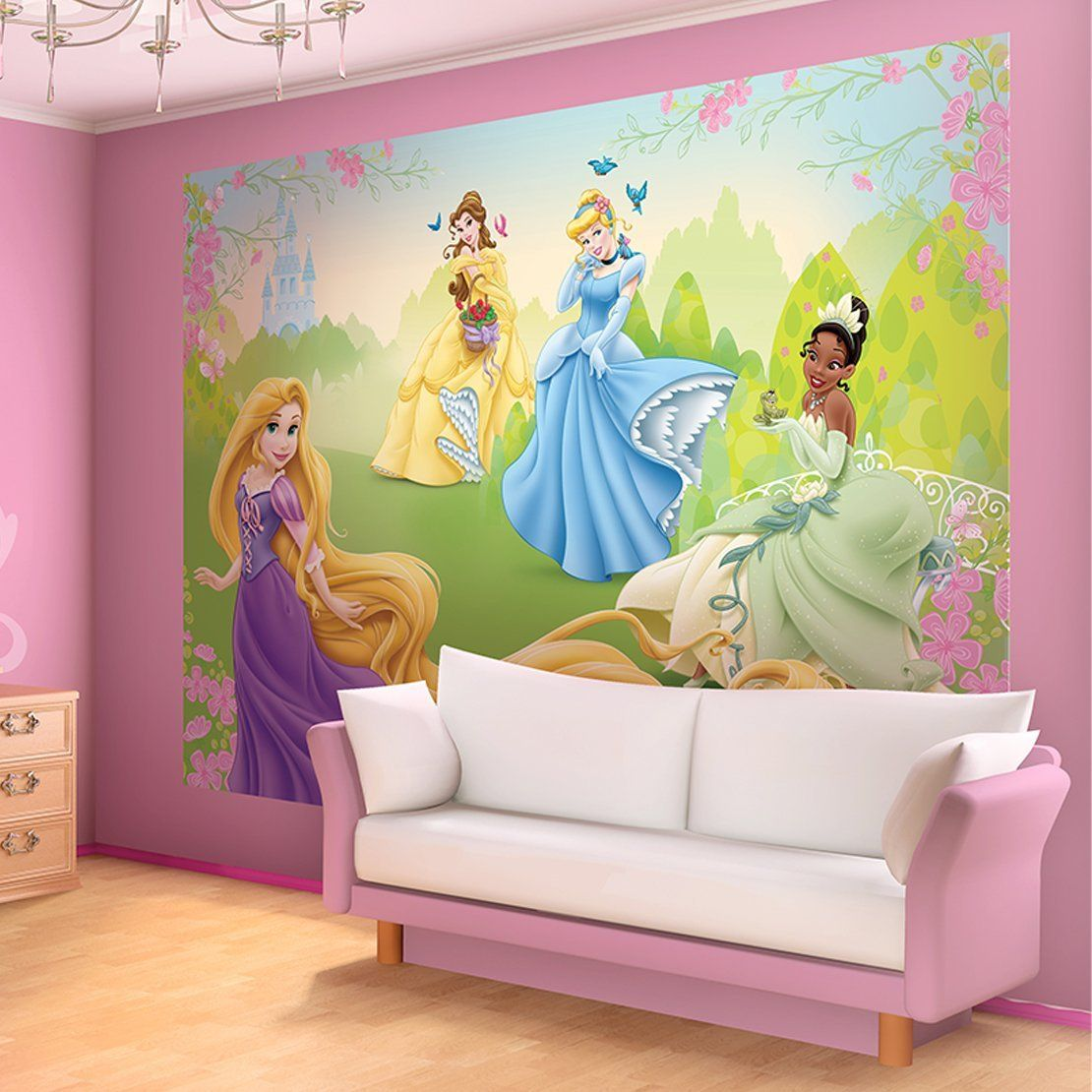 Disney Princesses Meadow Wallpaper Mural