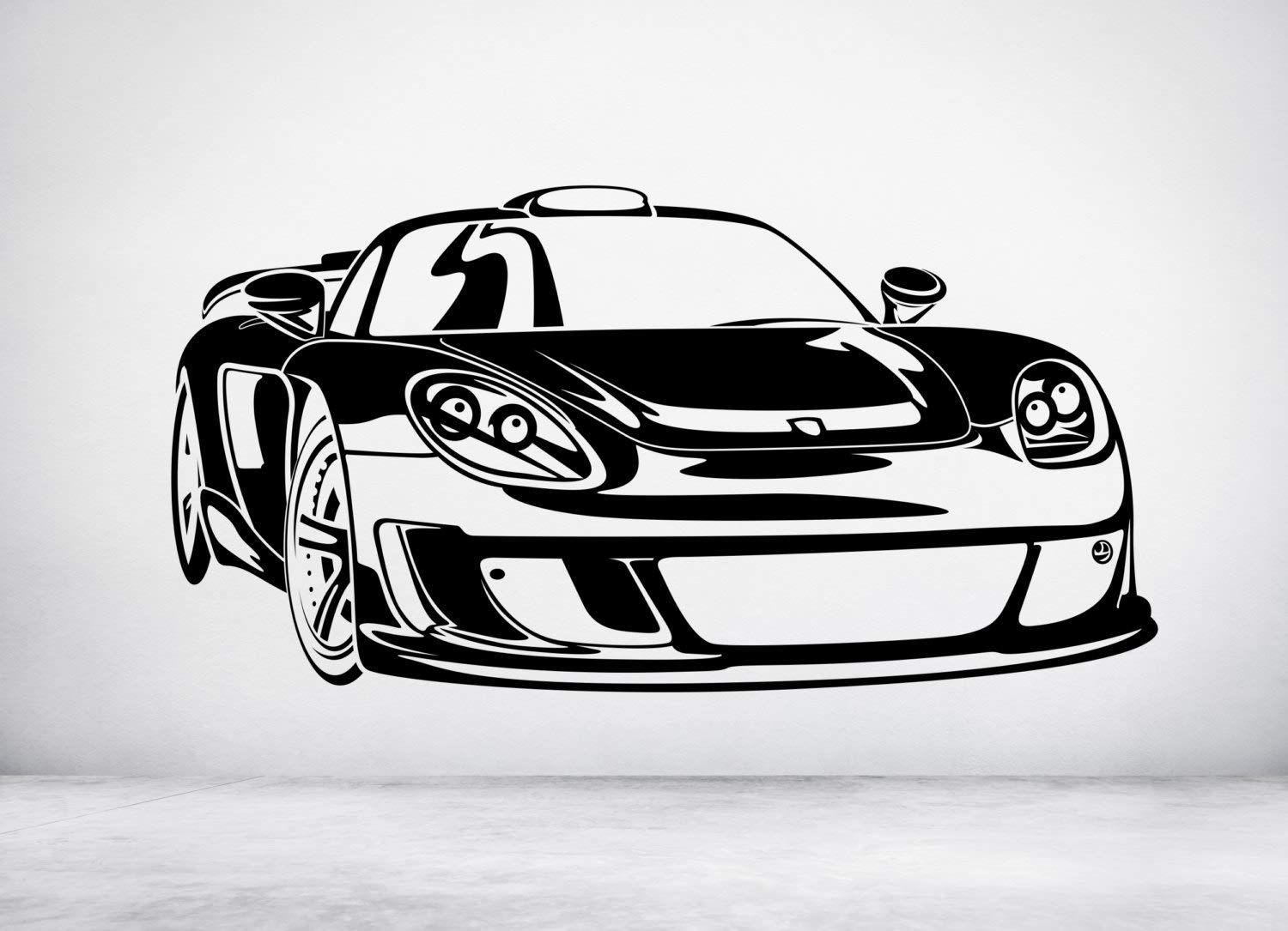 Amazon Com Wall Decals Porsche Carrera Gt Vinyl Wall Art Decal Sticker Any Color And Size Made In Usa Vinyl Wall Art Decals Room Stickers Decal Wall Art [ 1085 x 1500 Pixel ]