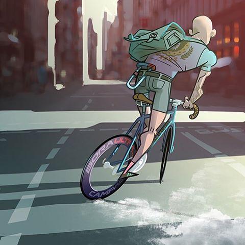 "233 curtidas, 19 comentários - David Casas Portfolio (@davidcasas.info) no Instagram: ""#fixed #cinelli #campagnolo #bike #urban #fixie #pista #draw #illustration #dosnoventa #8bar…"""