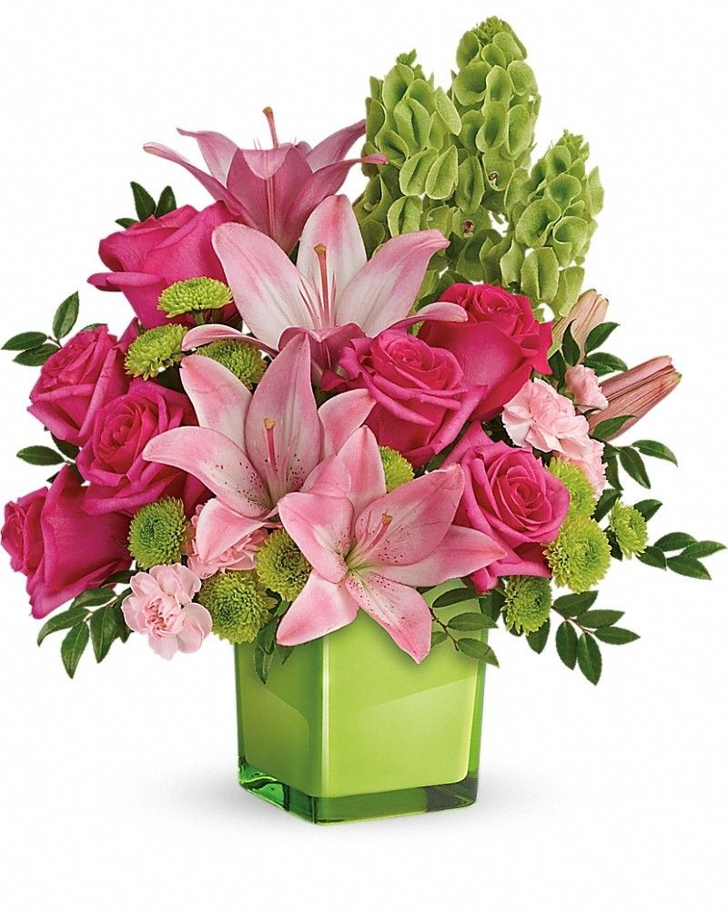 In Love With Lime Bouquet | Flowers free delivery, Flowers and Flower