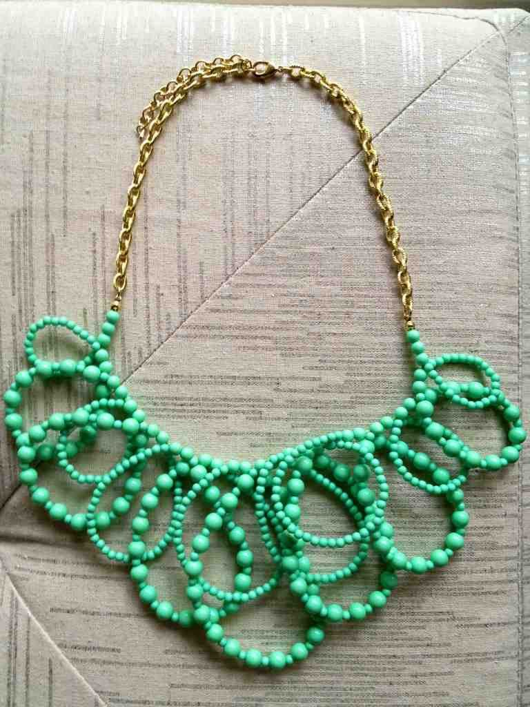 Mint Beaded Loops Necklace Always FREE Shipping