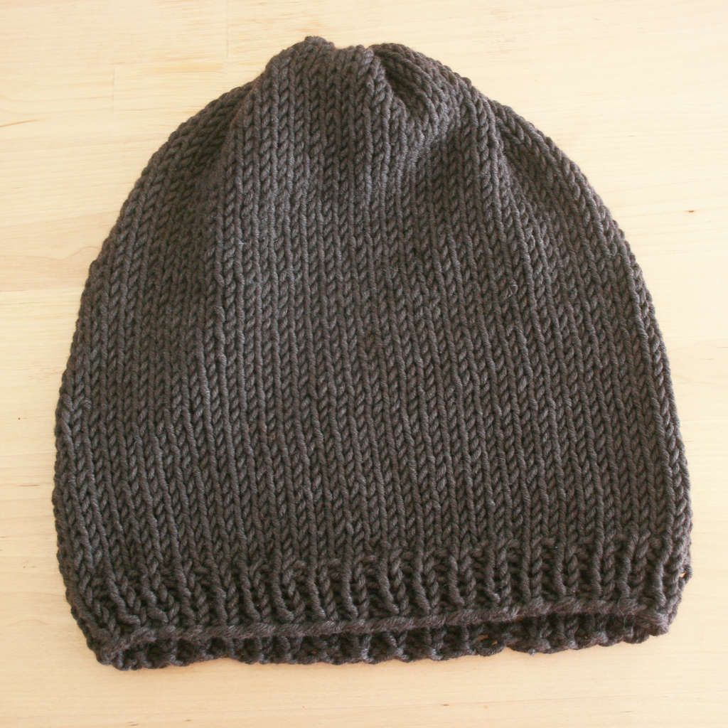 Easy Knit Hat Pattern   Knitted hat patterns, Knit hats and Super easy