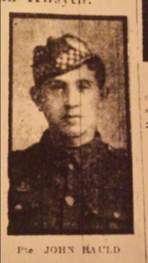 My uncle Pte John Bauld 1/9th Argyll & Sutherland Highlanders