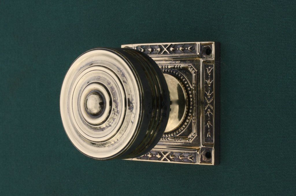 Brass Door Knobs Georgian Square Back | Priors http://www.priorsrec ...