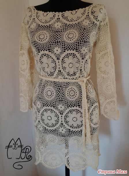 1c0f29a1a87 Платье-туника по мотивам Zara он-лайн Вязаная Крючком Одежда