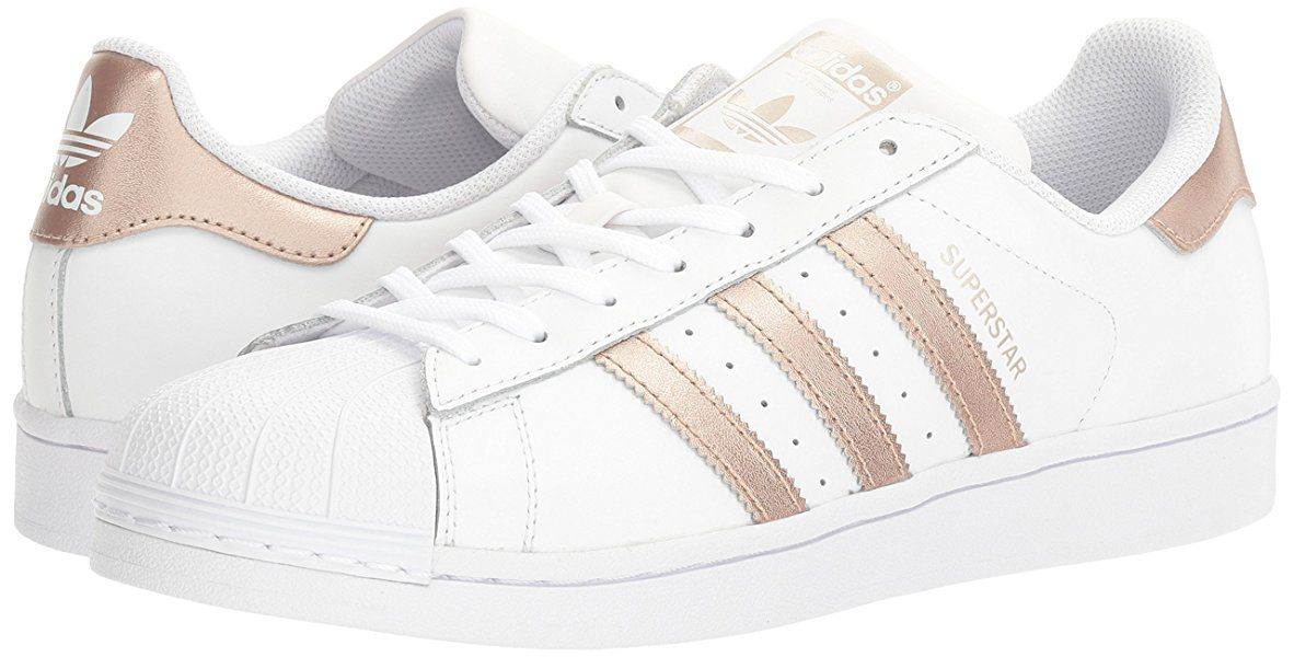 adidas Originals Women's Superstar W Fashion Sneaker, White/Supplier Colour/ White, 7.5