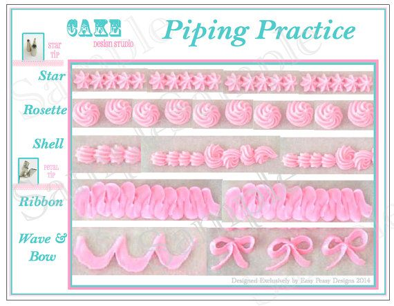 Printable Icing Template DIY Practice Sheet By Ateasypeasydesigns