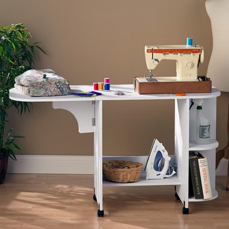 Southern Enterprises Expandable Rolling Sewing Table Craft