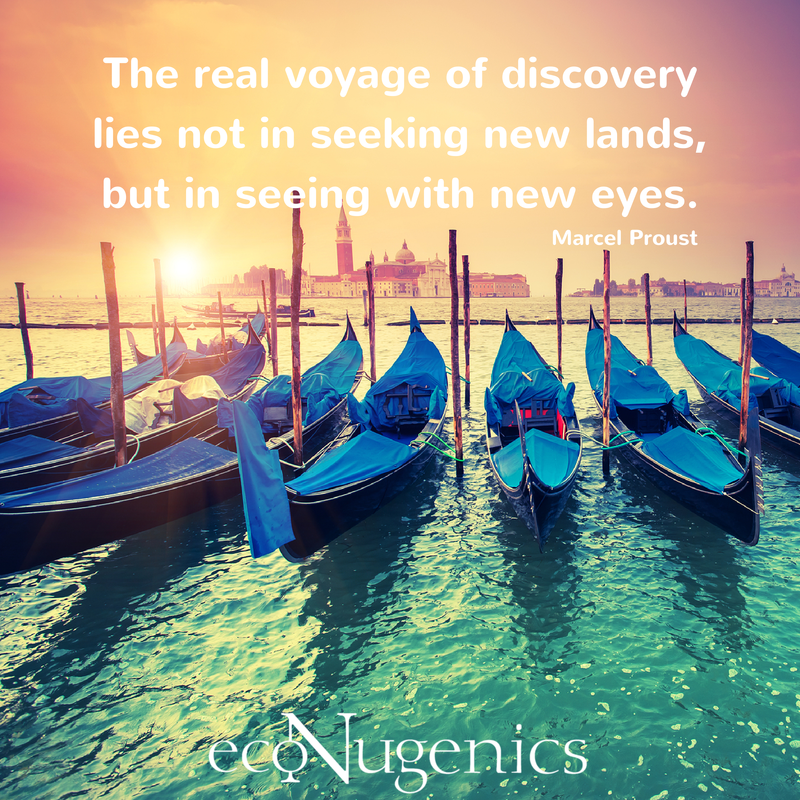 The real voyage of discovery lies not in seeking new lands, but in seeing with new eyes.