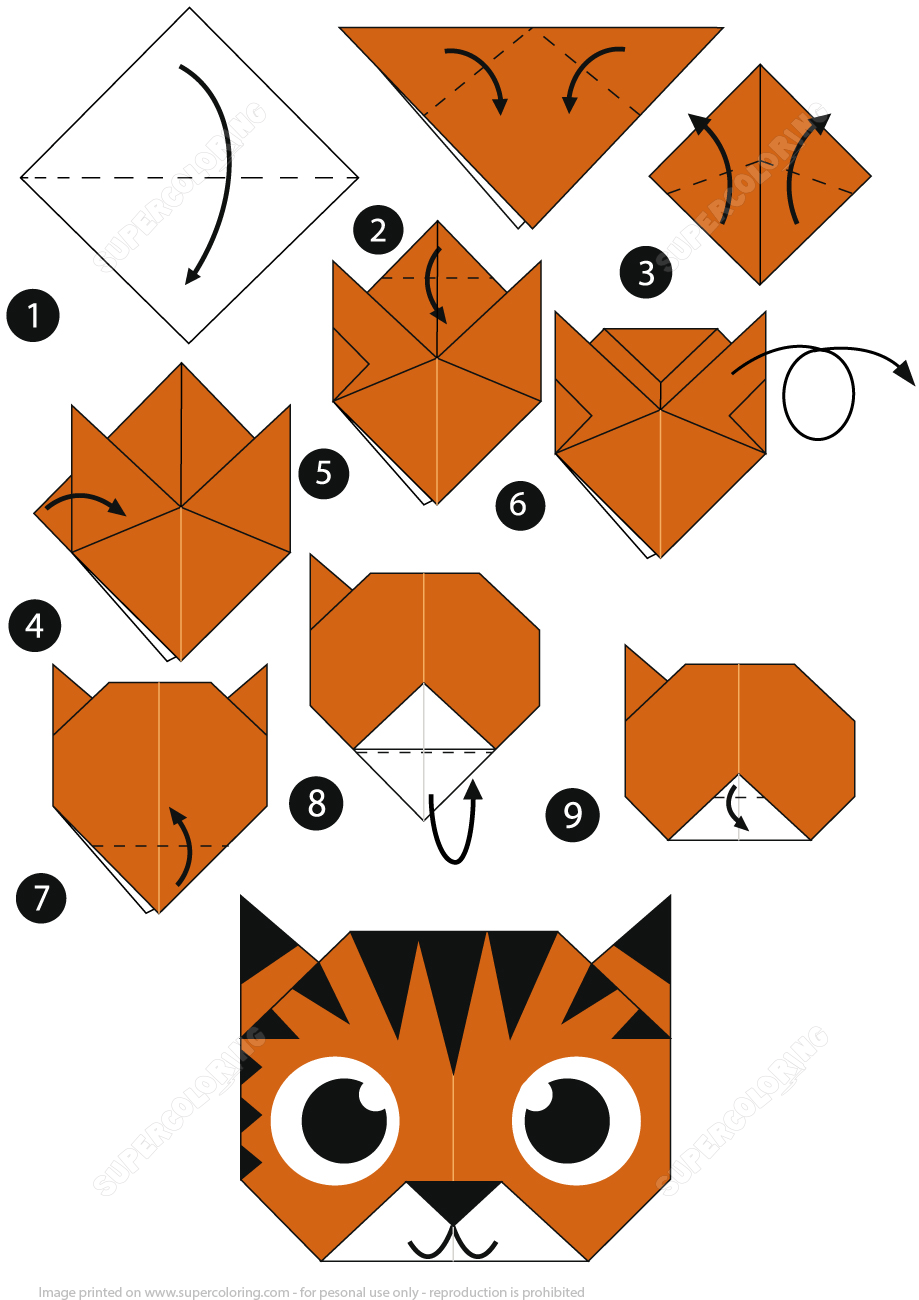 How to make an origami tiger face step by step instructions from how to make an origami tiger face step by step instructions from origami paper folding thecheapjerseys Image collections