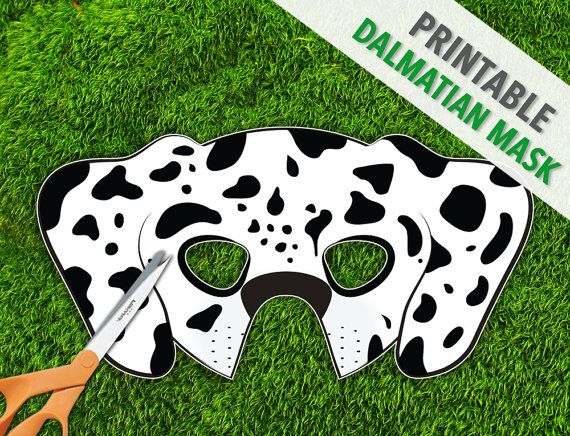 photograph about Dalmation Printable called Dalmatian Mask, Printable Animal Mask, Doggy Mask, Pet dog Mask
