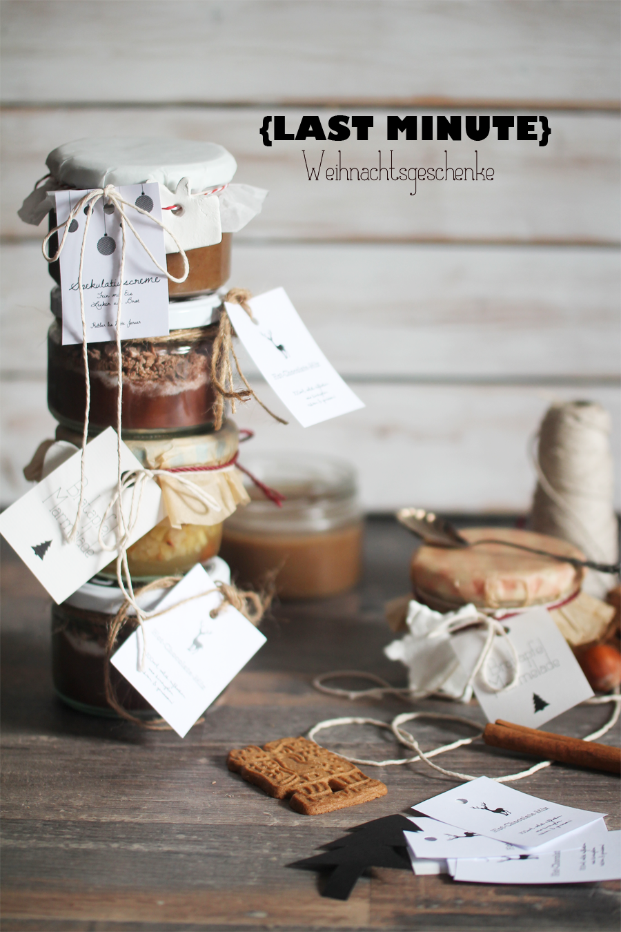 last minute Christmas gifts: speculoos cream / baked apple jam / hot ...