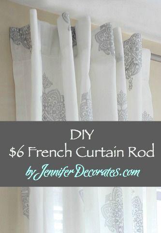 Diy French Curtain Rod Jennifer Decorates French Curtain Rod