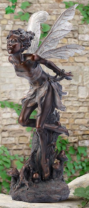 Amoura Bronze Color Fairy Statue   Ships Separately