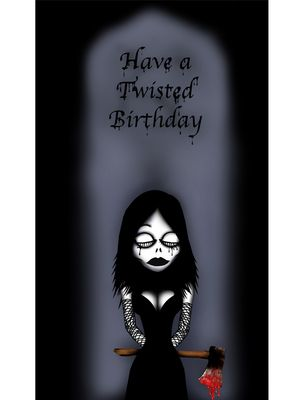 Pin By Neferankhaten On Nightmoth Gothic Cards Good Luck Cards Happy Birthday Gothic Birthday Cards