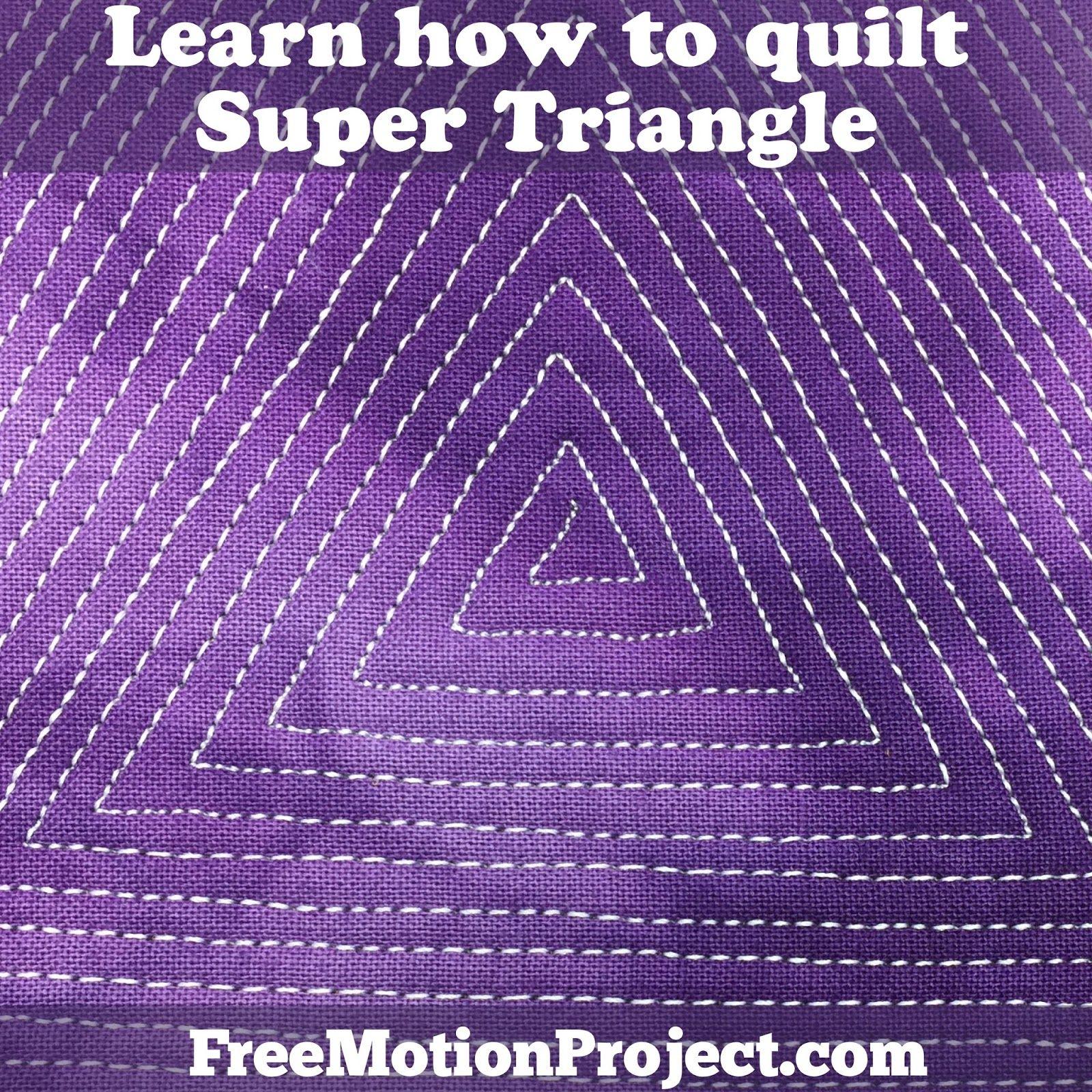 Beginner Quilting Design Super Triangle Free Motion Quilting Machine Quilting Tutorial Machine Quilting