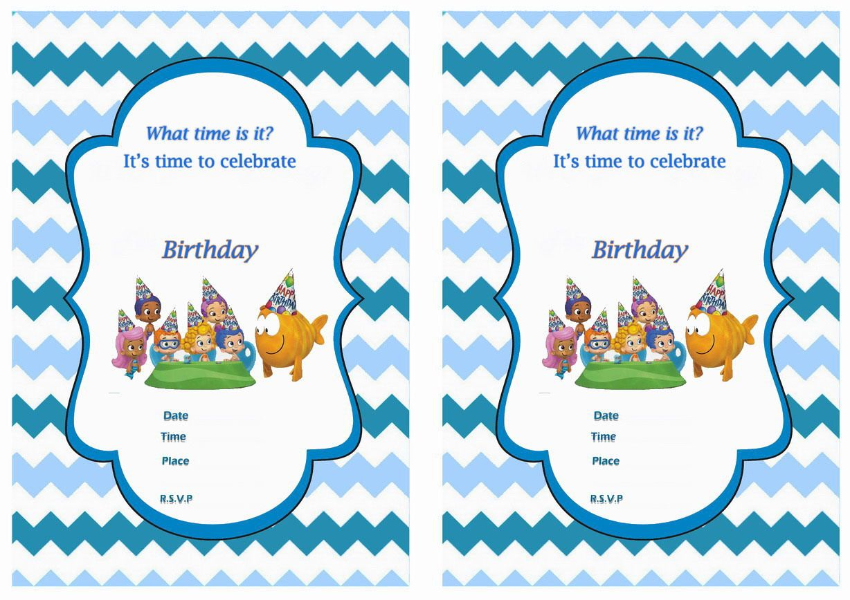 Bubble Guppies FREE Printable Birthday Party Invitations | Birthday ...
