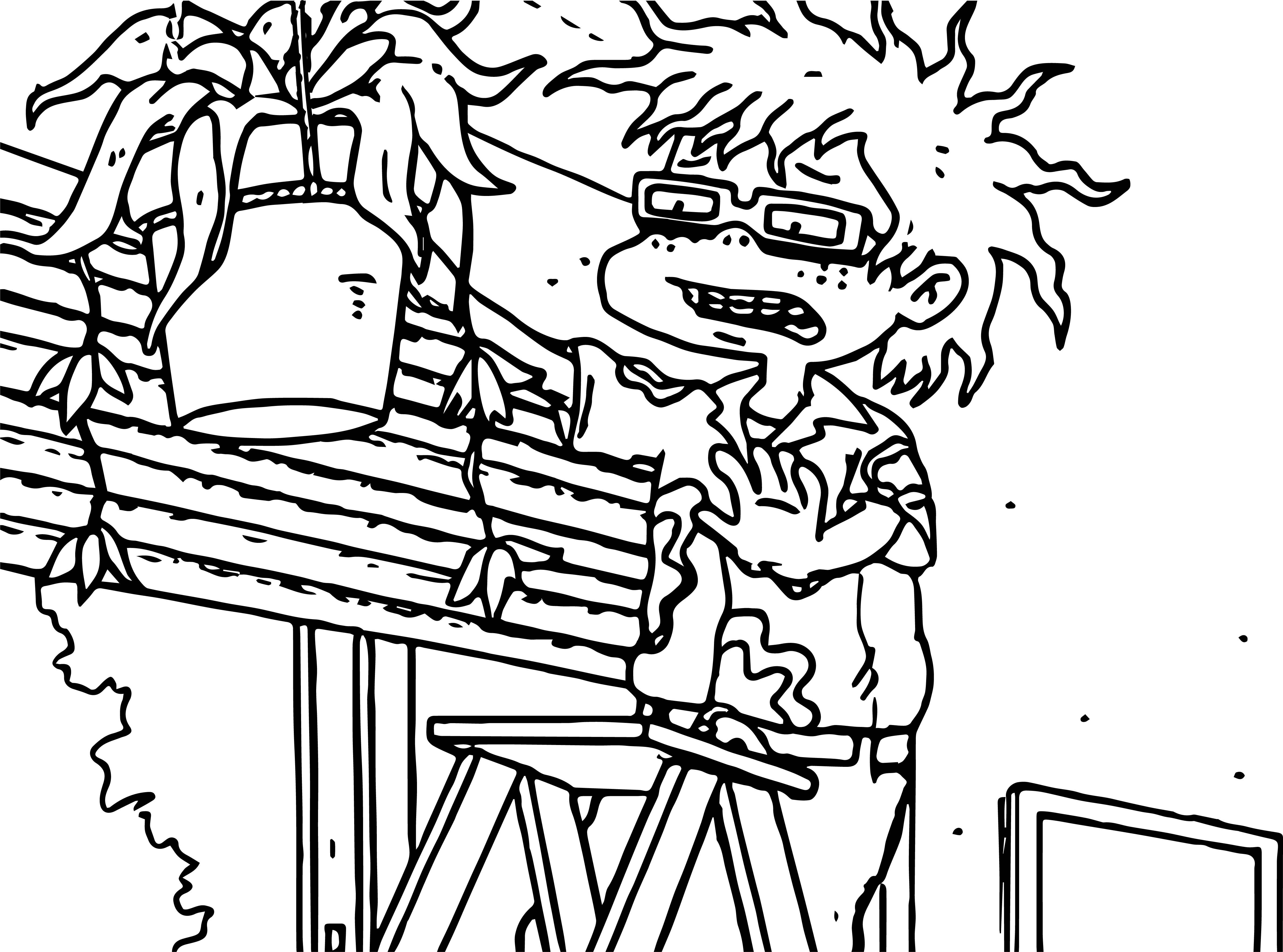 cool Chuckie Rugrats All Grown Up Flower Coloring Page ...