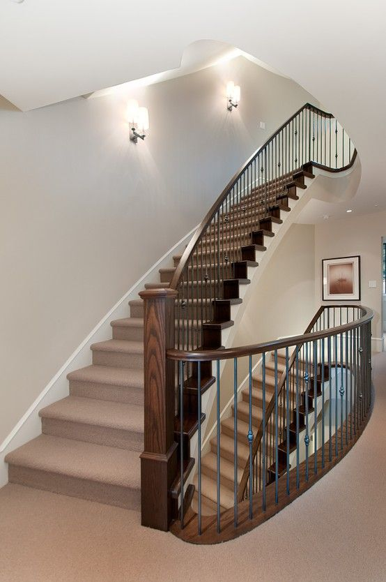 Absolutely Gorgeous Staircase In Vancouver Home #blurrdMEDIA