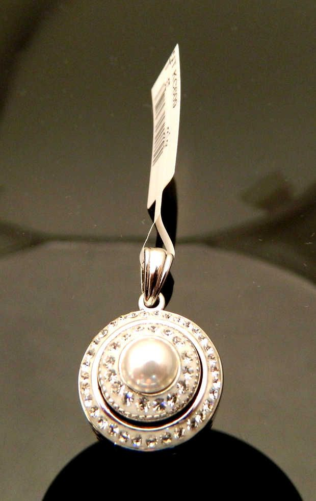CZ Bezel Pendant with Pearl and CZ Center