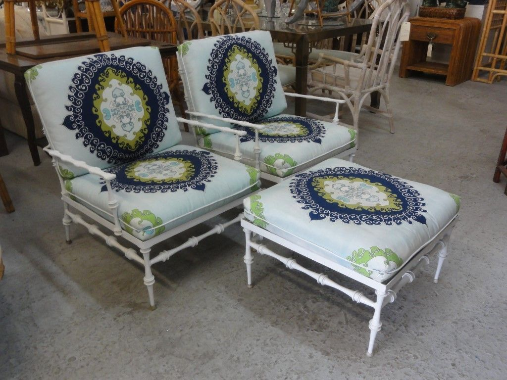 Phyllis morris lounge chair palm beach regency pinterest