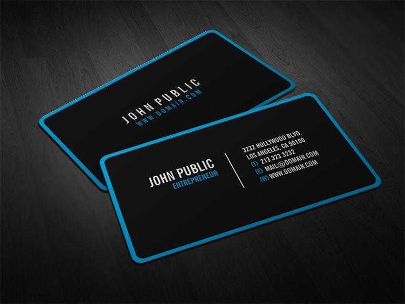 Black Business Card Moderne Visitenkarten Visitenkarten Schwarze Visitenkarte