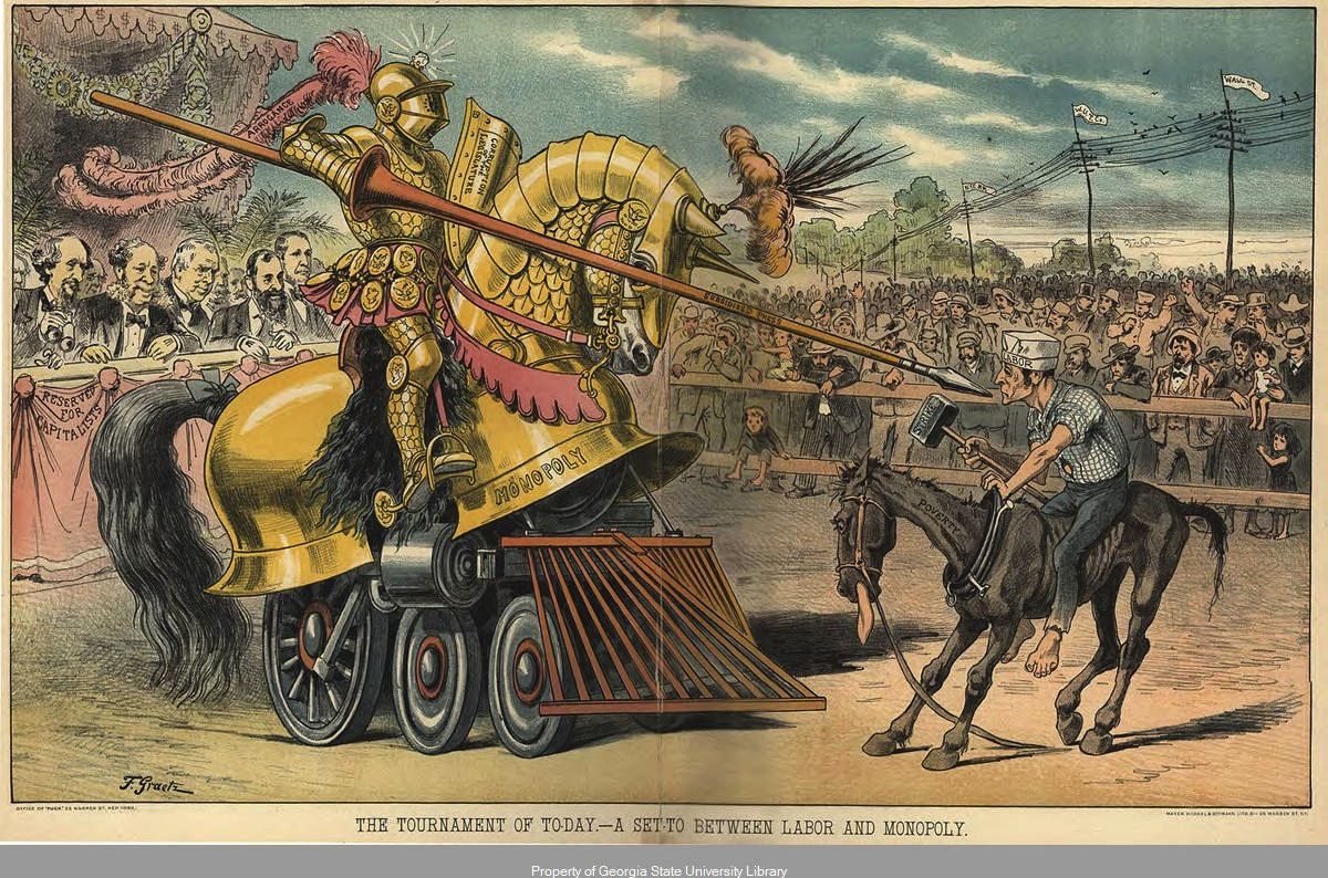 Anti Monopoly Political Cartoon In Puck C Gilded Age Monopolists Portrayed Are From