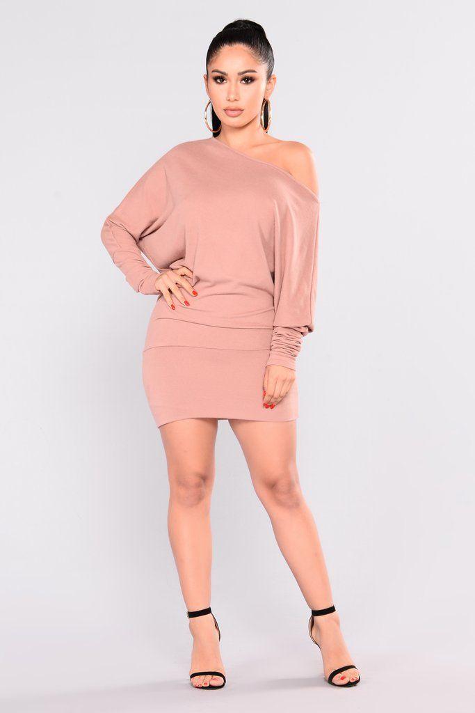 Priya Sweater Dress - Mauve | Tendencias de moda, Curvas y Mamá