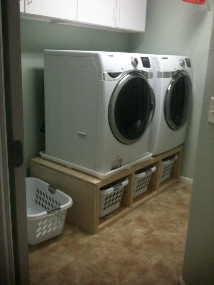 Finished laundry pedestal  lavasecadora  Baos