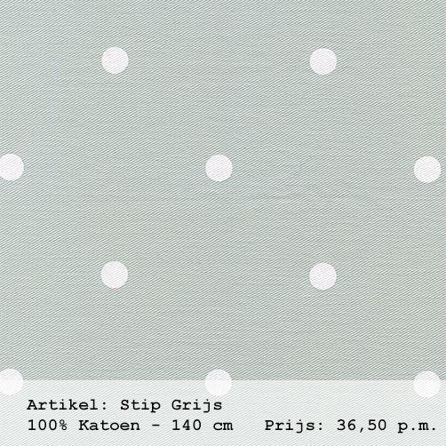 Gordijnstof licht grijs met witte stippen uit de collectie \'sterren ...