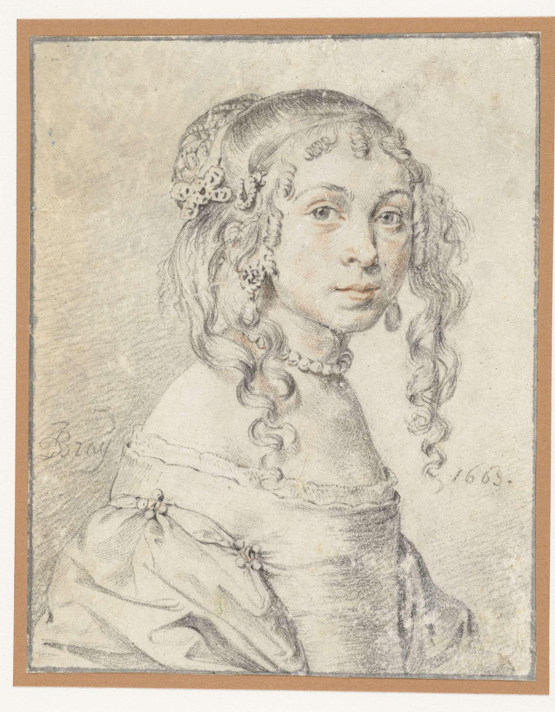 Portret van een onbekend meisje, Jan de Bray, 1663