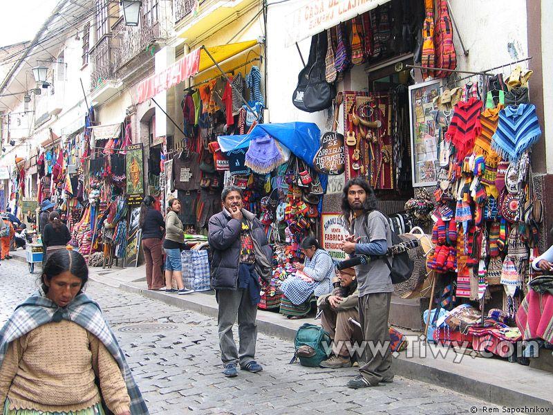 BOLIVIA |||||||||| LA PAZ. Calle Sagarnaga, La Paz