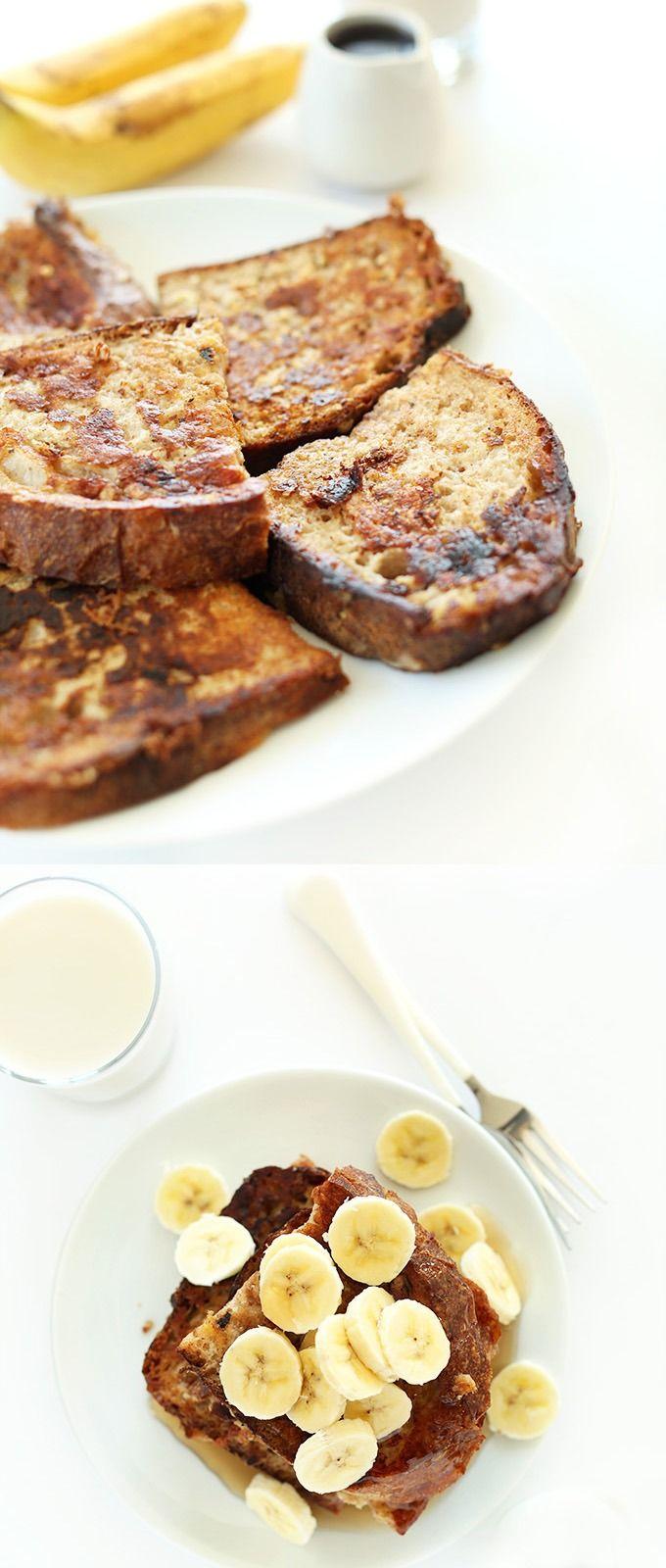Vegan Banana French Toast Minimalist Baker Recipes Recipe Vegan Dishes Banana French Toast Vegan Breakfast Recipes