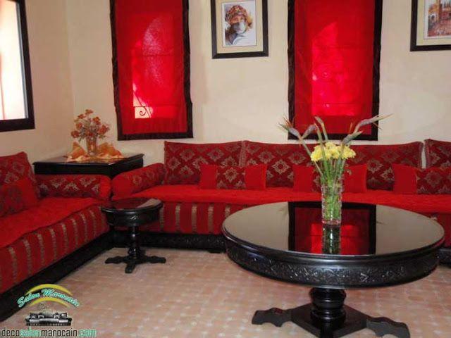 Salon marocain traditionnel couleur d\'amour 2017 Canapé Salon ...