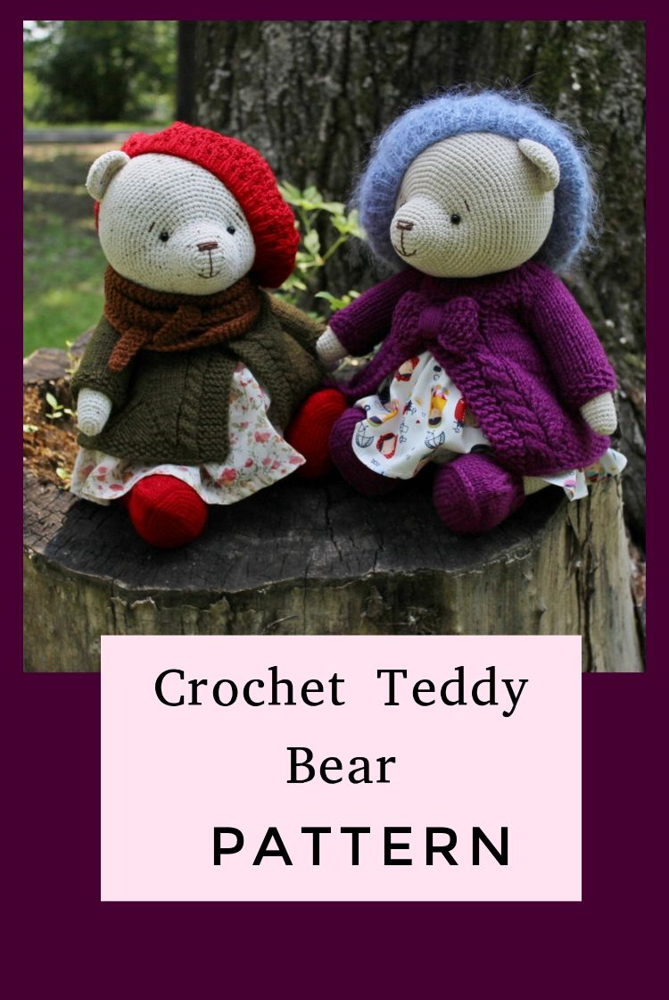 PATTERN Crochet Teddy bear. PATTERN Amigurumi Teddy bear. PATTERN Teddy Bears Outfits Girls