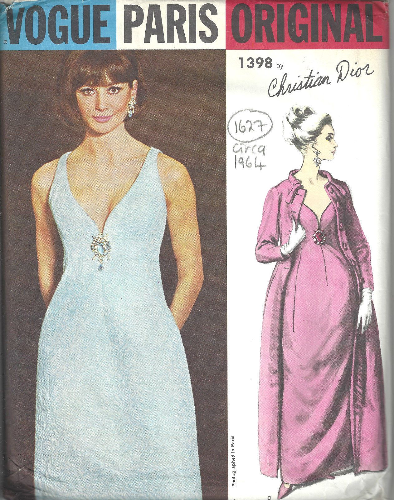 Details About Vintage Vogue Sewing Pattern B34