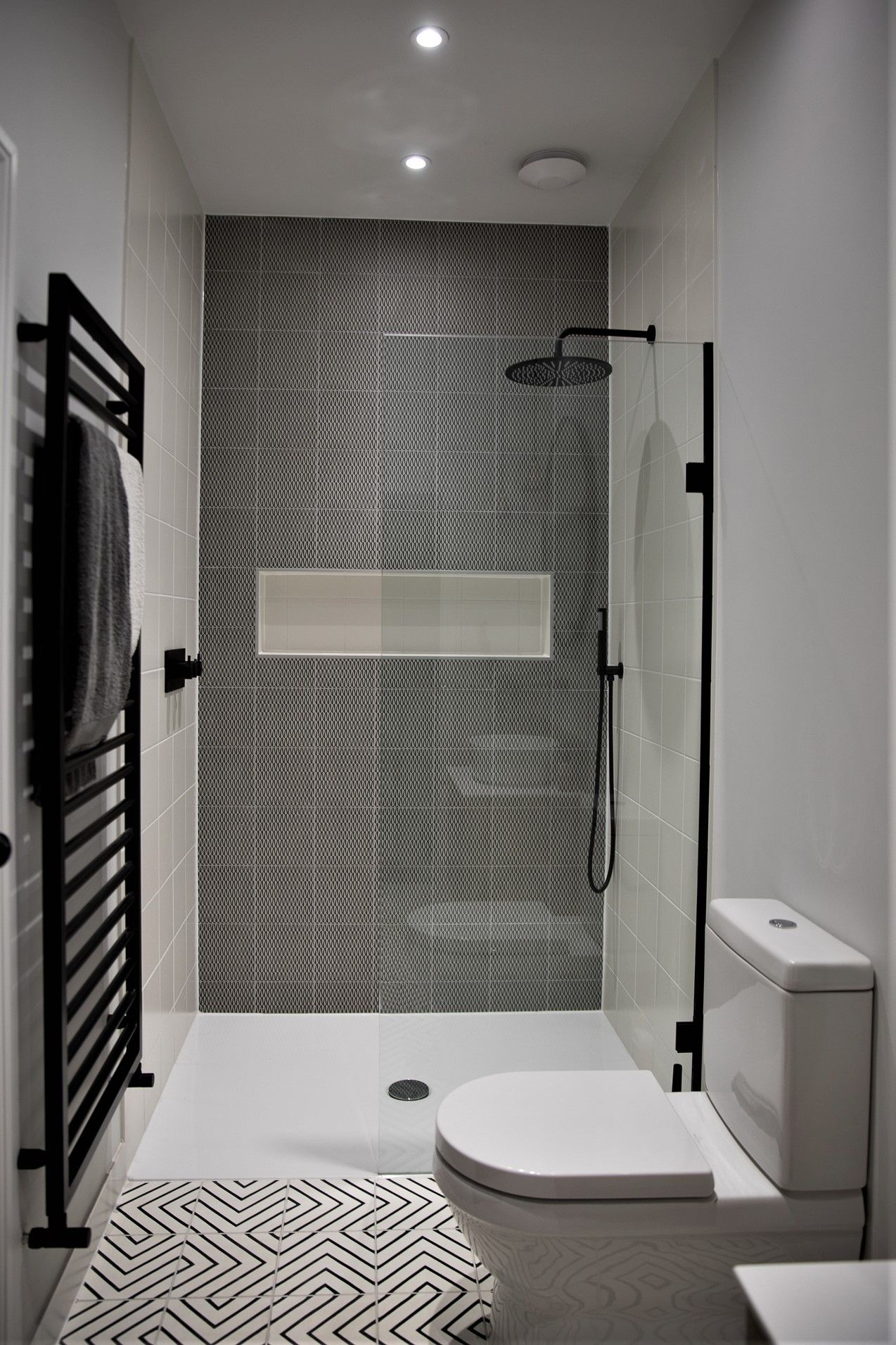 Feature Tile Wall In Shower Recessed Shelf Shower Recess Recessed Shelves Bathroom Recessed Shower Shelf