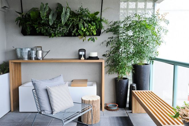 Wall Mounted Planters Are Great For Adding Extra Green When Floor Space Is  At A Premium. A Slender Console Table Is Another Smart Addition T.