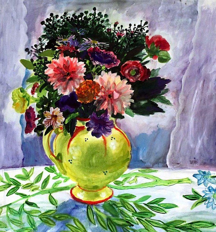 Evy Låås (1923-1999) Vase with Flowers